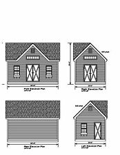 SHED PLAN 20'X12 DRAWINGS BLUEPRINT SHED 12'X20 WORKSHOP STORAGE 17-1220SGBLDORM