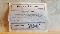 Cervezas El Leon  Antigua Participación de Loteria 1968 San Sebastian Gipuzkoa