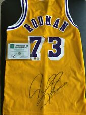 Vintage New Autographed Authentic Dennis Rodman Jersey Los Angeles Lakers