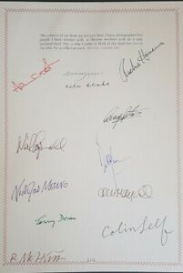 SIGNED Ringo Starr Neil Aspinall Michael Cooper Blinds & Shutters Genesis book