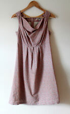 JOULES Tom Joule Collection Pink Ditzy Linen Blend Adele Dress Size 12