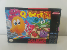 Qbert 3 SNES SUPER NINTENDO ENTERTAINMENT SYSTEM NTSC BOXED COMPLETE