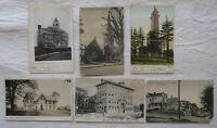 Lot of 6 Vintage Postcards*Belleville New Jersey*NJ*school*church*street*tower