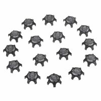 16Pcs Black Easy Replacement Spikes Ultra Thin Cleats for Golf Shoes U3I6