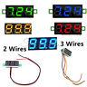 "DC 0-100V 0.28"" Voltmeter LED Display Voltage Panel Meter Red/Blue/Yellow/Green"