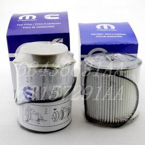 19-20 Dodge Ram 2500 3500 4500 Diesel Fuel Filter Set # 68436631AA # 68157291AA