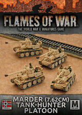 FLAMES OF WAR NUOVO CON SCATOLA MARDER (7,62 cm) tank-hunter PLATOON gbx101
