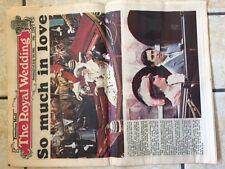 Diana and Charles  Royal Wedding Birmingham Evening Mail Souvenir 24 page