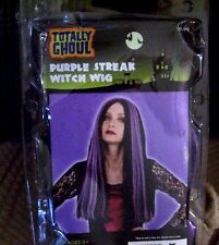 PURPLE STREAK WITCH WIG HALLOWEEN NEW IN PACKAGE TOTALLY GHOUL