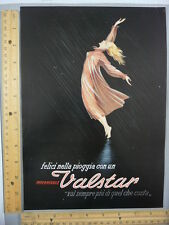 Rare Original VTG 1951 Valstar, Valli-Rimmel Bianchi Advertising Art Print