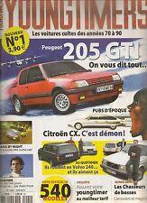 YOUNGTIMERS 1 PEUGEOT 205 GTI PORSCHE 944 TURBO CAB VOLVO 240 BREAK CITROEN CX
