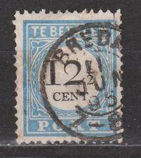 Port nr 8 TOP CANCEL BREDA NVPH Nederland Netherlands due portzegel 1881