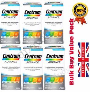 Centrum Advance Multivitamins 100 TABLETS Adult Multi Complete A-Z x2, x3, x4