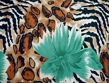 Japanese Satin Silk Blend Leopard Print Material Sewing Fabric Craft By 1 Yd