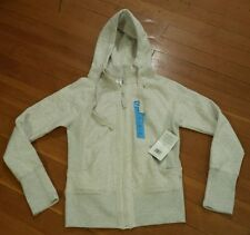 NWT Womens ACTIVE LIFE Oatmeal Full Zip Hooded Sweater Jacket Size Small
