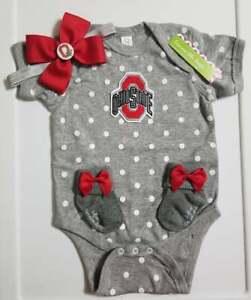 Ohio State baby/newborn girl clothes baby girl ohio state Ohio State baby gift