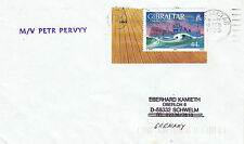 GIBRALTAR FERRY SHIP MV PETR PERVYY A SHIPS CACHED COVER