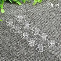 Lots 20 Clear Type Empty Thread Bobbin String Sewing Spool for Sewing Craft Tool
