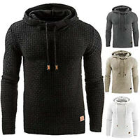 Mens Fashion Winter Hoodie Warm Hooded Sweatshirt Sweater Coat Jacket Outwear