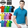 Mens Dri-Fit Quick-Dry Golf Polo Shirt Sport Shirt Jersey T-Shirt Cotton Casual