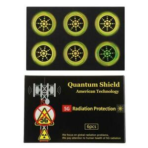 5G Quantum Anti Radiation Shield EMF Protection 6 Stickers UK (Various devices)