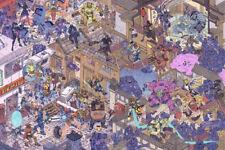Overwatch Ana Bastion D.Va Doomfist Genji Hanzo Silk Fabric Poster 21 X14 inch