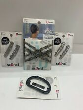 6pc Lot  Scunci Hair Accessories ~Hairclips & Upzing New