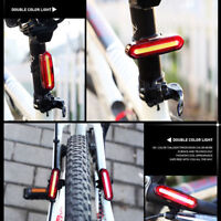 LED USB Rechargeable Bicycle Cycling Tail Rear Light 6 Modes Warning Light Lamp