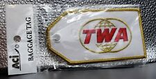 Embroidered Trans World Airlines Luggage/Bag Tag, Vintage Double Globe Logo