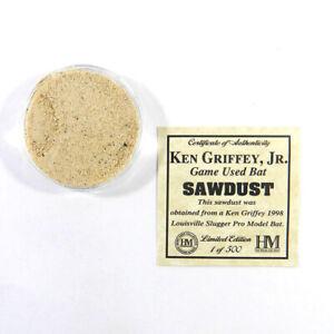 Highland Mint Ken Griffey Jr Game Used Bat Sawdust Limited Edition 1 of 500