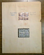 Two Newfoundland 4 blocks - # 169 & # 170 from 1929 - 8 stamps mounted