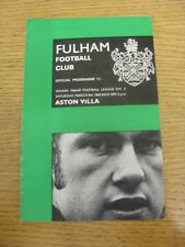 08/03/1969 Fulham v Aston Villa  (Light Crease, Team Changes). Item appears to b