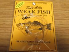 24 WEAKFISH SEA TROUT TIDE RITE R650  BEADED  HI-LO RIG  FISHING MUSTAD HOOKS