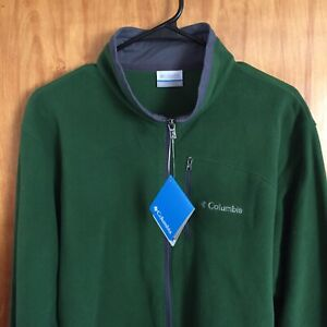 NWT Columbia Men's Lost Peak Full Zip Fleece Jacket Green Size L