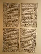 Planche gravure Religion Moyen age Heures à l'usage de Rome pour Simon Vostre 3
