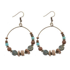 Alloy Earrings For Lady Dw-Eh-Hqe581 Retro Fashion Circular Wood Bohemia Elegant