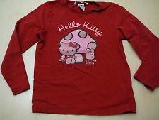 H & M Hello Kitty tolles Langarmshirt Gr. 104 rot !!