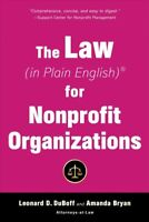 Law (in Plain English) for Nonprofit Organizations, Paperback by Duboff, Leon...