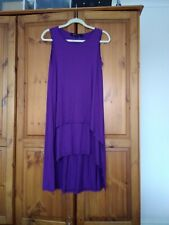 Join clothes Small sleeveless tunic/dress jewel purple