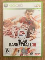 NCAA Basketball 10 (Microsoft Xbox 360, 2009) COMPLETE w/ Manual FREE SHIPPING