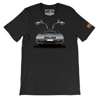 1983 D_M_C 12  The Legend Classic Car Men's Gift Tee Made in USA