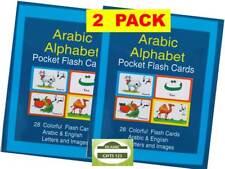ARABIC ALPHABET Flash Cards (2 PK) Islamic Quranic Learning Muslim kids Gifts