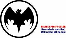 "Vinyl Decal Sticker - Bacardi Bat Car Truck Bumper Window laptop Wall JDM Fun 9"""