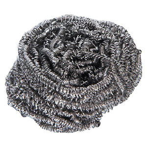 Large Stainless Steel Scourers   40g   Pack of 10