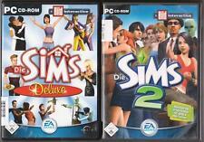 Die Sims 2 Hauptspiel + DIE SIMS 1 Deluxe HAUPTSPIEL & Volle Leben PC Spiele