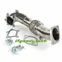 Stainless Turbocharger Exhaust Downpipe For 07-11 Mazda Mazdaspeed 3 2.3L MPS