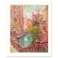 "Marco Sassone ""Venice Reflections"" Signed Limited Edition Serigraph Art with LOA"