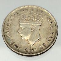 1941 Newfoundland Canada 10 Cents Circulated 925 Silver Canadian Dime Coin B595