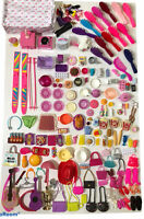 Huge Lot Of Barbie Accessories Purses Shoes Food Brushes Dishes Wind Ups MORE