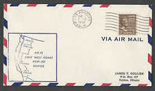 1959 COVER 7c PREXY#812 SOLE AIR MAIL USAGE ON FIRST FLIGHT LOS ANGELES SEE INFO